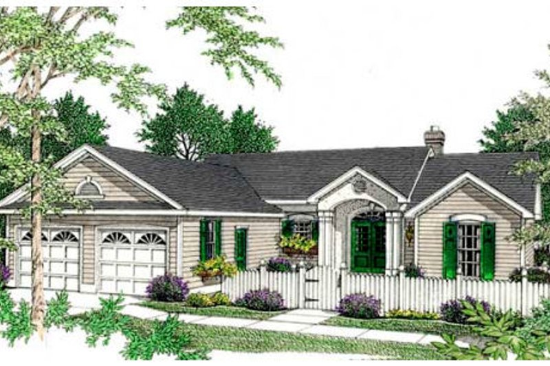Home Plan - Traditional Exterior - Front Elevation Plan #406-211
