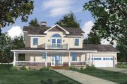 Country Style House Plan - 3 Beds 2.5 Baths 2624 Sq/Ft Plan #1042-5 Exterior - Front Elevation