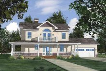 Country Exterior - Front Elevation Plan #1042-5