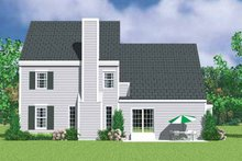House Plan Design - Colonial Exterior - Rear Elevation Plan #72-1117