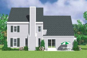 Architectural House Design - Colonial Exterior - Rear Elevation Plan #72-1117