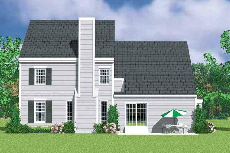 Colonial Exterior - Rear Elevation Plan #72-1117 - Houseplans.com