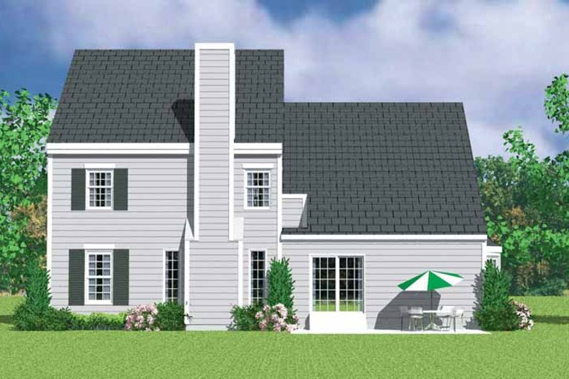 Home Plan - Colonial Exterior - Rear Elevation Plan #72-1117