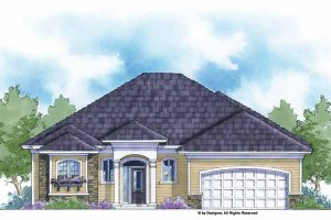Country Exterior - Front Elevation Plan #938-38