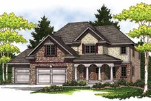 European Exterior - Front Elevation Plan #70-1401