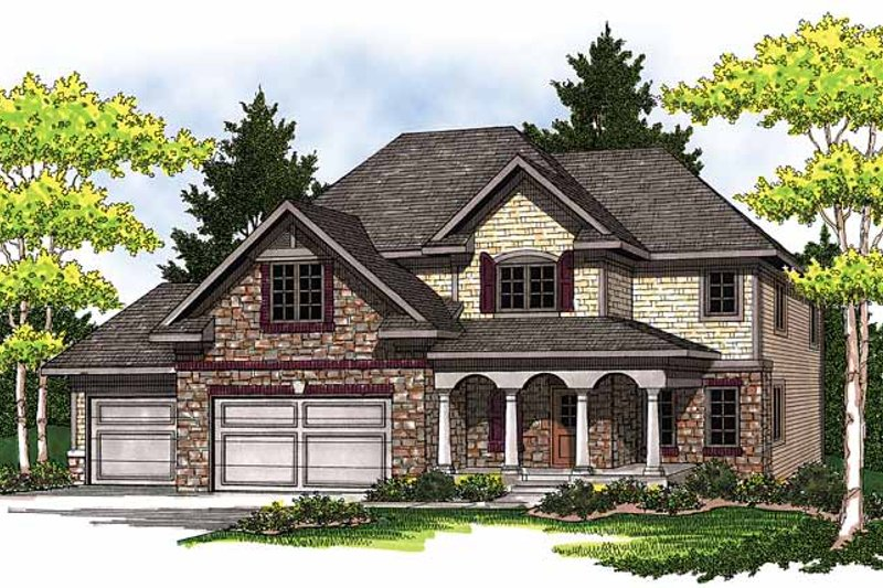 Home Plan - European Exterior - Front Elevation Plan #70-1401