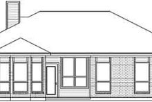 House Design - Traditional Exterior - Rear Elevation Plan #84-191