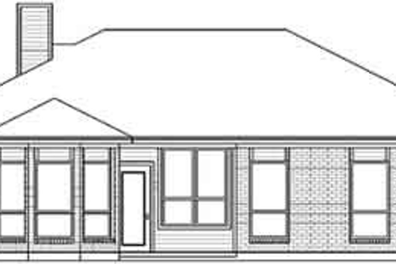 Traditional Exterior - Rear Elevation Plan #84-191 - Houseplans.com