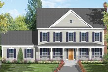 Dream House Plan - Colonial Exterior - Front Elevation Plan #1053-69