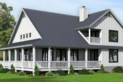 Country Style House Plan - 4 Beds 3.5 Baths 2123 Sq/Ft Plan #932-145 Exterior - Rear Elevation