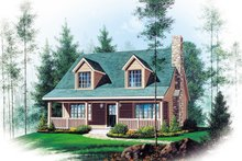 Dream House Plan - Country Exterior - Front Elevation Plan #22-582