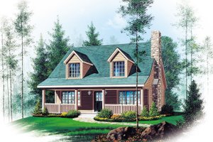 Country Exterior - Front Elevation Plan #22-582