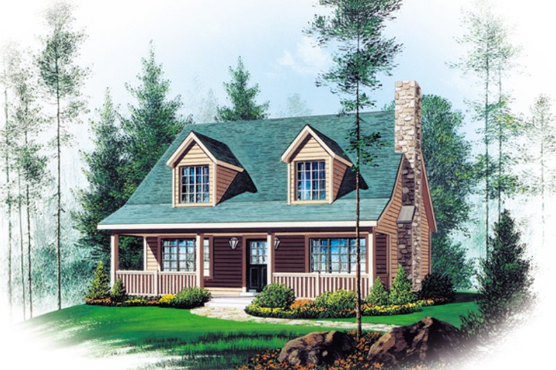Home Plan - Country Exterior - Front Elevation Plan #22-582