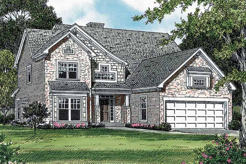 Craftsman Exterior - Front Elevation Plan #453-255