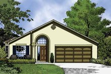 Country Exterior - Front Elevation Plan #1015-38