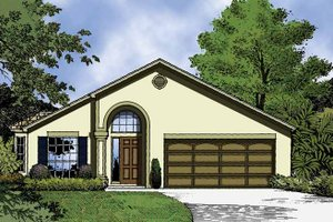 Architectural House Design - Country Exterior - Front Elevation Plan #1015-38