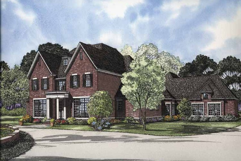 Dream House Plan - Traditional Exterior - Front Elevation Plan #17-2840