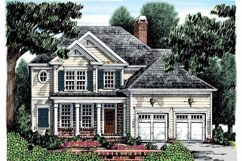 Colonial Exterior - Front Elevation Plan #927-872 - Houseplans.com
