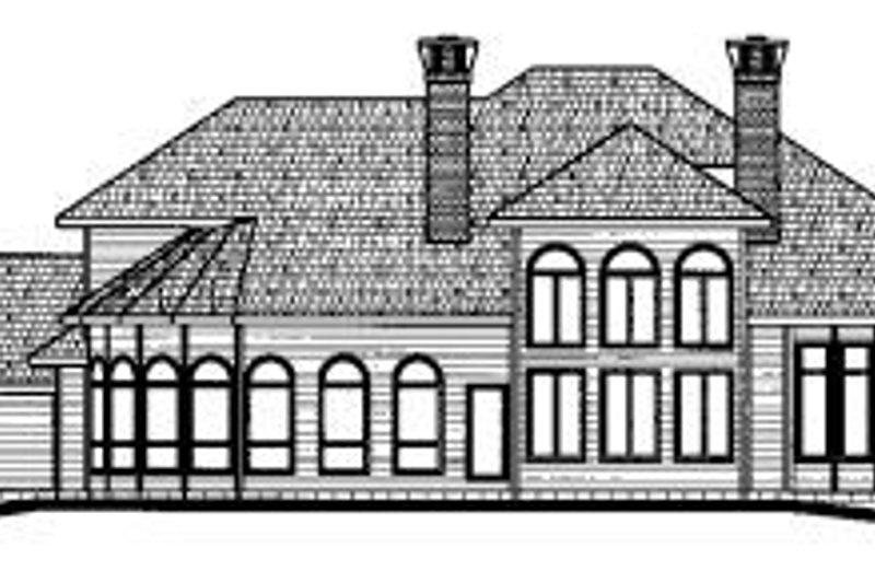 Traditional Exterior - Rear Elevation Plan #20-1171 - Houseplans.com