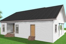 Country Exterior - Rear Elevation Plan #44-160