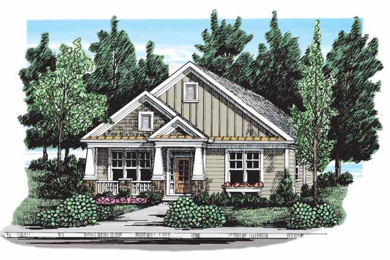 Craftsman Exterior - Front Elevation Plan #927-297