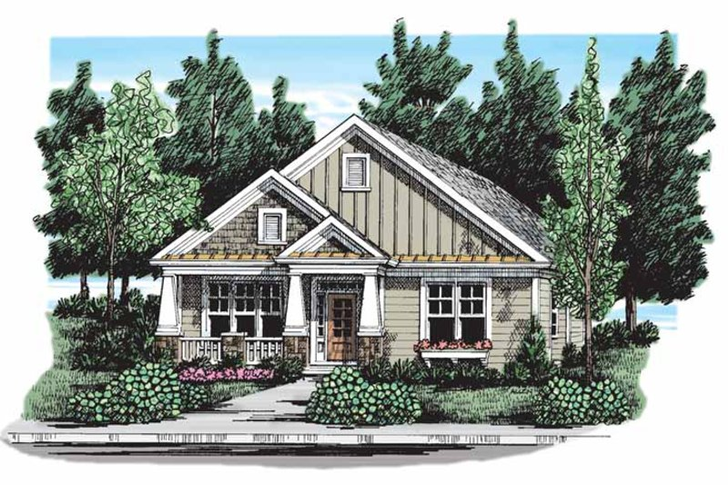 Home Plan - Craftsman Exterior - Front Elevation Plan #927-297