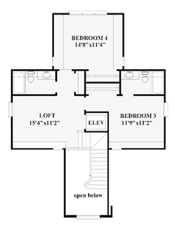Colonial Floor Plan - Other Floor Plan Plan #991-24