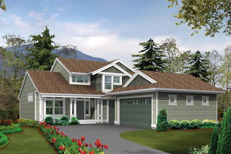 Craftsman Exterior - Front Elevation Plan #132-263