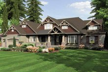 Dream House Plan - Traditional Exterior - Front Elevation Plan #132-555
