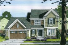 Dream House Plan - Traditional Exterior - Front Elevation Plan #46-492
