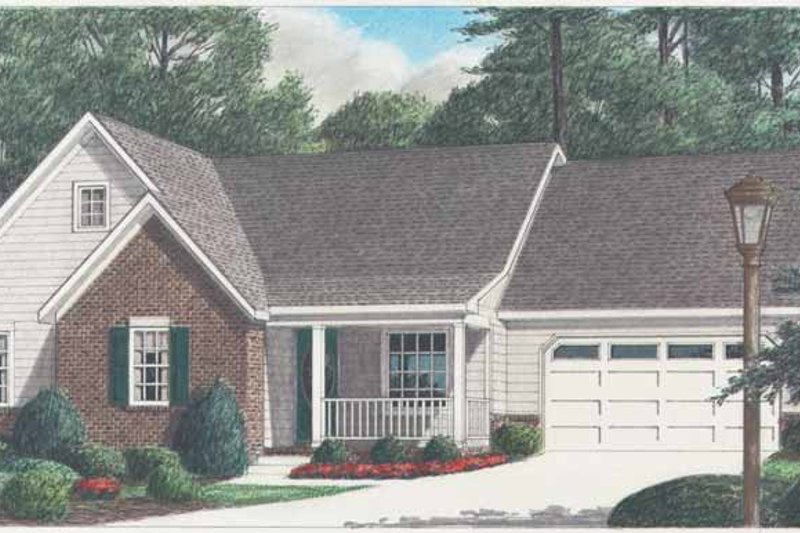 Traditional Exterior - Front Elevation Plan #34-249 - Houseplans.com