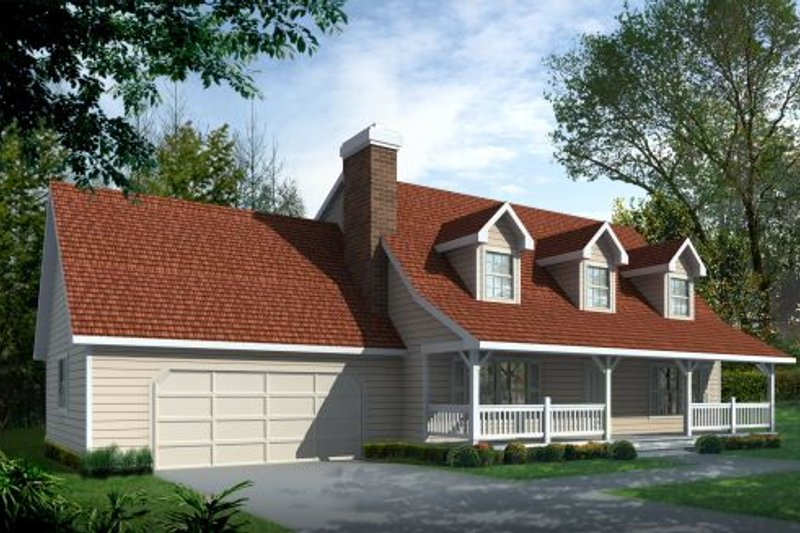 Country Exterior - Front Elevation Plan #87-203 - Houseplans.com