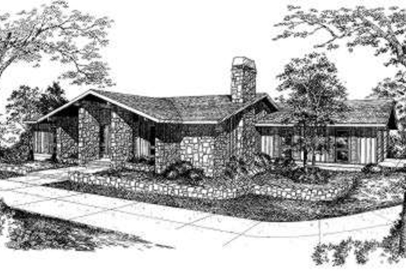 Modern Style House Plan - 3 Beds 2 Baths 1861 Sq/Ft Plan #322-108 Exterior - Front Elevation