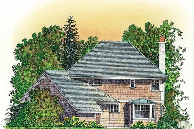 Victorian Exterior - Rear Elevation Plan #1016-78 - Houseplans.com