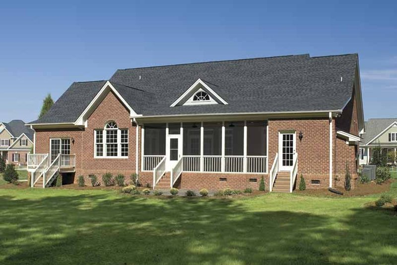 Country Exterior - Rear Elevation Plan #929-477 - Houseplans.com