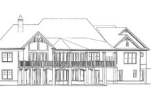 Ranch Exterior - Rear Elevation Plan #54-313