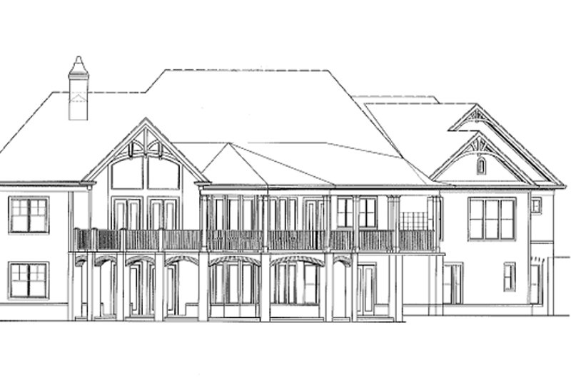 Ranch Exterior - Rear Elevation Plan #54-313 - Houseplans.com