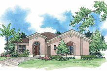 Mediterranean Exterior - Front Elevation Plan #930-382