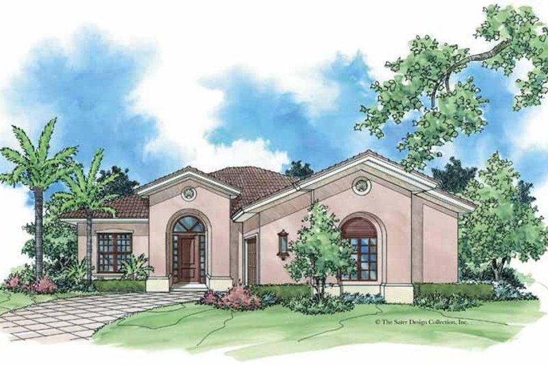 Architectural House Design - Mediterranean Exterior - Front Elevation Plan #930-382