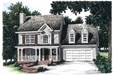 Country Exterior - Front Elevation Plan #927-51