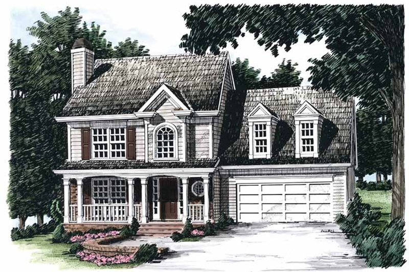 Country Exterior - Front Elevation Plan #927-51 - Houseplans.com