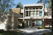 Contemporary Style House Plan - 3 Beds 4.5 Baths 5431 Sq/Ft Plan #928-77 Exterior - Front Elevation