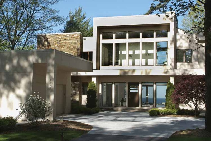 Dream House Plan - Contemporary Exterior - Front Elevation Plan #928-77
