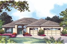 Traditional Exterior - Front Elevation Plan #1015-19