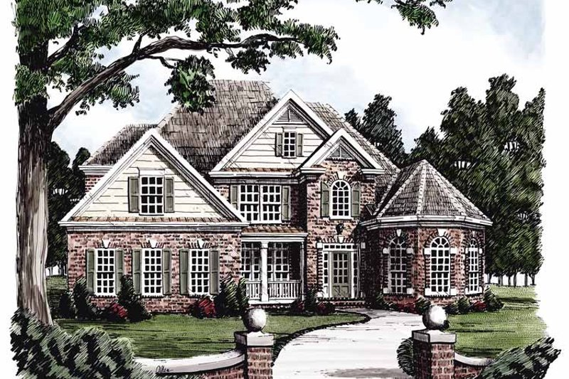 Colonial Exterior - Front Elevation Plan #927-379