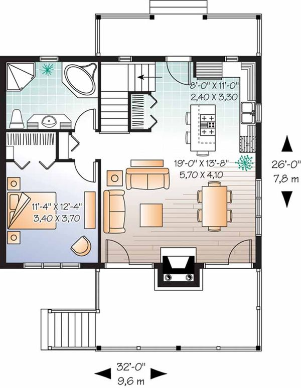 Craftsman Floor Plan - Main Floor Plan Plan #23-2462