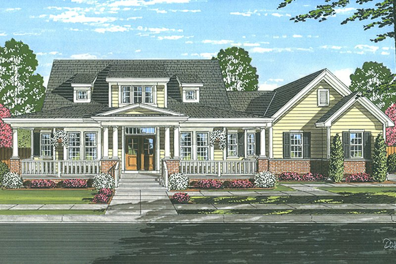 Colonial Exterior - Front Elevation Plan #46-864