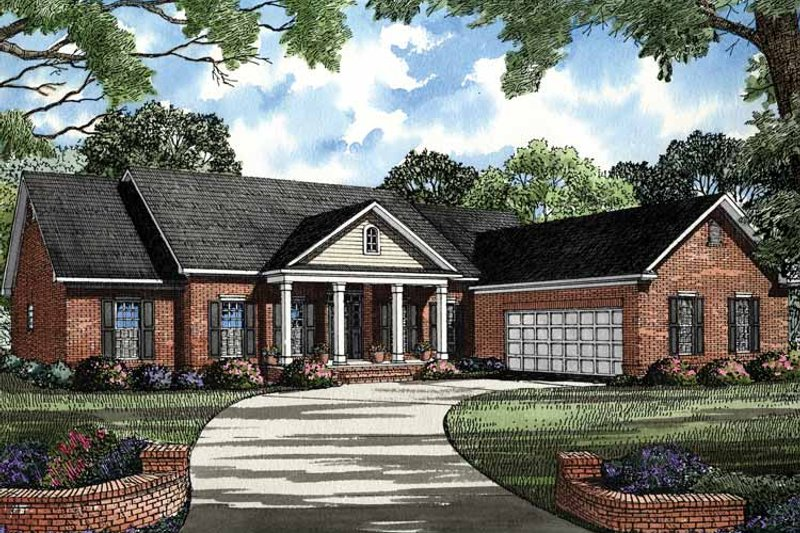 Ranch Exterior - Front Elevation Plan #17-2790 - Houseplans.com