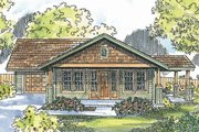 Craftsman Style House Plan - 2 Beds 2 Baths 1321 Sq/Ft Plan #124-725 Exterior - Front Elevation