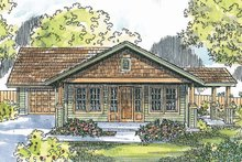 Dream House Plan - Craftsman Exterior - Front Elevation Plan #124-725